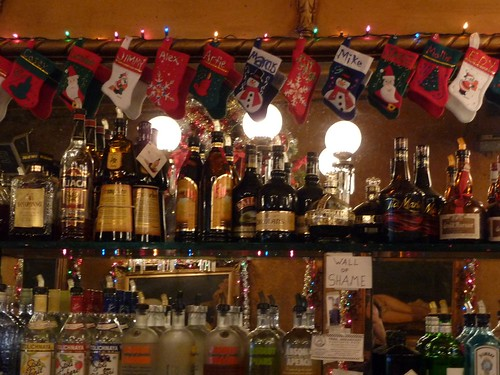 The Stockings Were Hung on the Back Bar (at The Gold Dust Lounge, Where You Can Get a Jamie n Coffee for Five Bucks All Afternoon til Your So Wide Awake Drunk You Start to Bug Out) with Care In Hopes that St. Nicholas Soon Would Be There