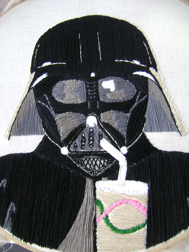 Vader Drinking a Pop