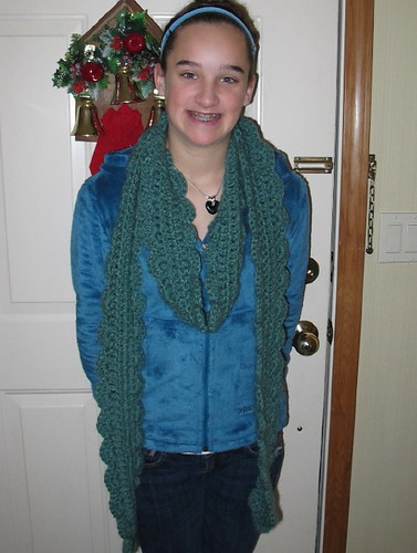 Smiling oceana scarf recipient