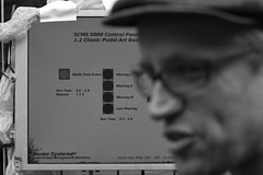 SCMS 500 demonstration at pudel art basel (Jitter Buffer) Tags: berlin art robert freedom tim auction live hamburg crowd systems sonic basel exhibition event management artists 5000 gentrification monolake 2009 ableton opposition hoax henke pudel scms fellsrow
