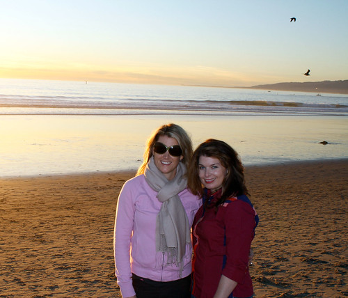 My sister and me on the beach