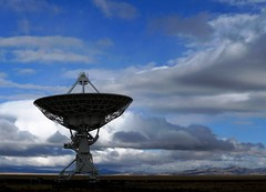 Can You Hear Me Now ? (Ph0tomas) Tags: sky newmexico clouds landscape 1001nights magdalena vla radiotelescope