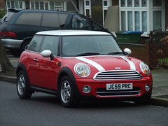 Cooper D (kenjonbro) Tags: uk red white diesel mini cooper 2009 hatchback newmini 3door minicooperd 1560cc