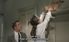 Breakfast at Tiffany's (1961) (pineappleupsidedown) Tags: cat audreyhepburn screencap subtitle breakfastattiffanys