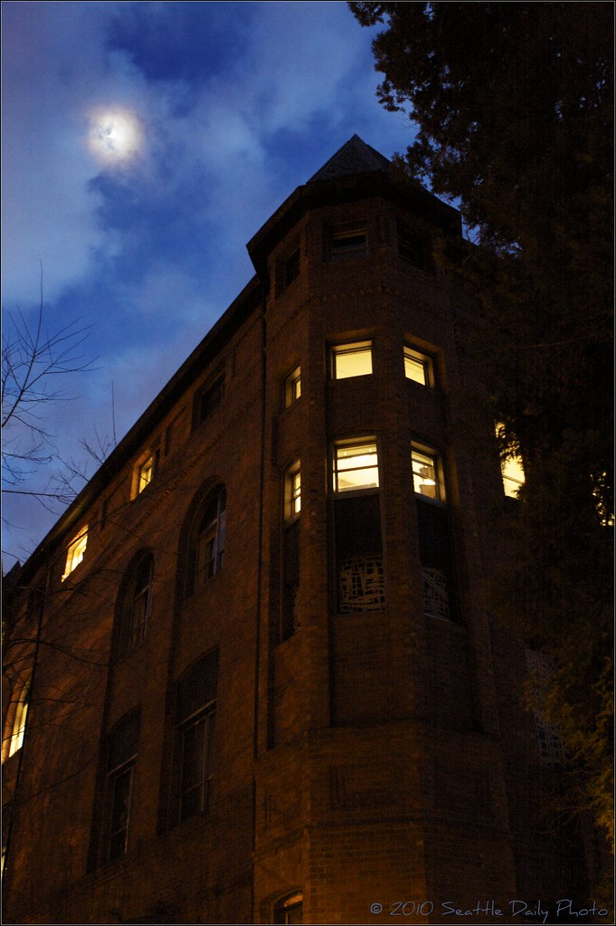 Skywatch Friday:  Moonlit Alexander Hall