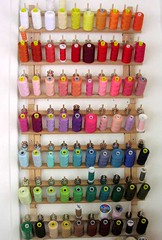 threads organized (germandolls) Tags: thread studio sewing storage dollmaking sewingthread threadracks germandolls