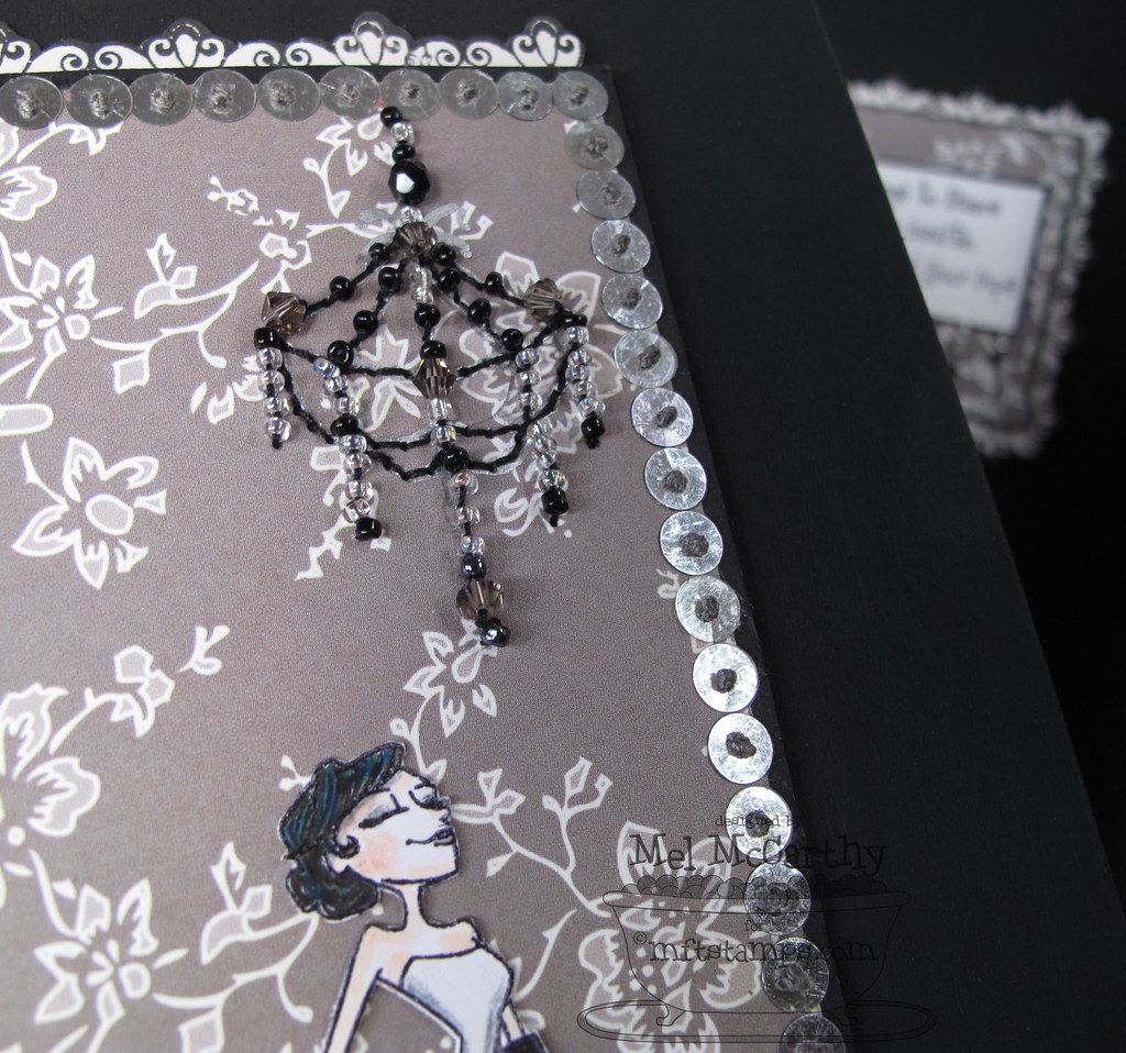 MFTeasers DANCE box  chandelier mel stampz
