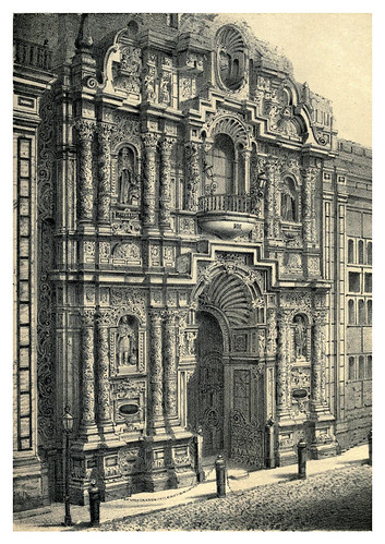 002-Fachada de la iglesia de la Merced-Lima or Sketches of the capital of Peru-1866- Manuel Atanasio Fuentes Delgado