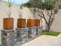 Rust finish Cubedec A (Badec Bros Deco) Tags: colour art architecture modern bench design planters mosaic unique steel powder laser deco bros coated gabions edrich badenhorst badec cubedec