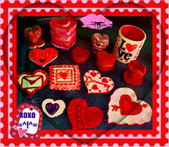 Happy Valentine's Day!! (Chipmunk Hill Arts) Tags: art ceramic clay valentines katiewolfe chipmunkhillartscom