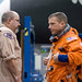 United Space Alliance suit technician Fred Utley assisted Virts