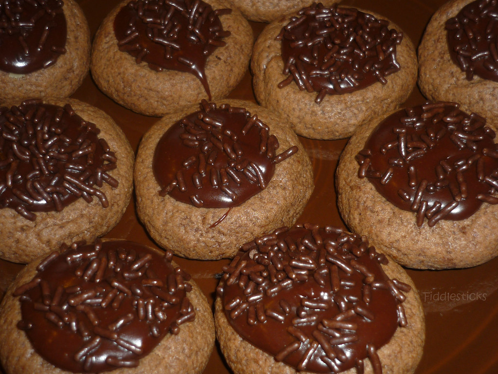 Espresso Thumbprint Cookies!