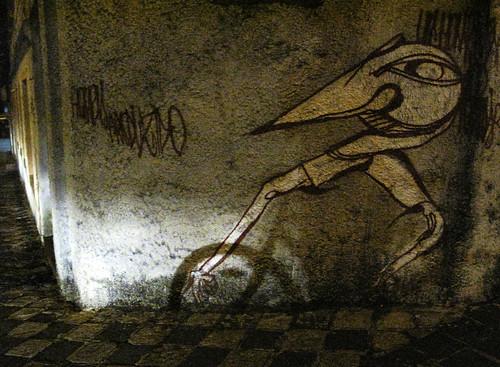 Bike shadow + street art, Curitiba