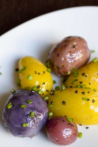 Buttered Baby Potatoes with Chives