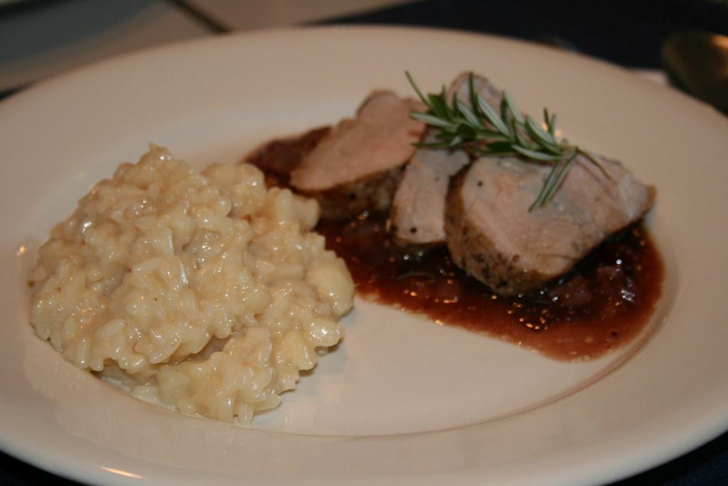Pork Tenderloin and Pear Risotto