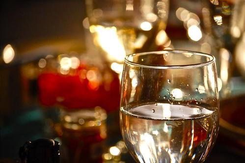 glass of bokeh