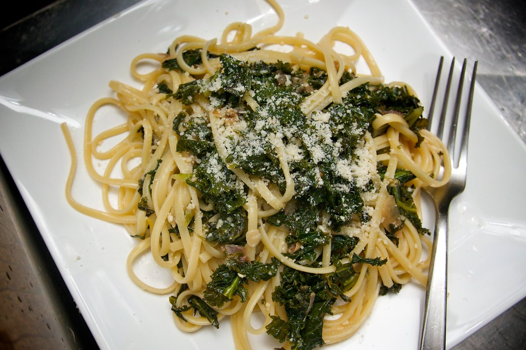 Pasta with Braised Kale - Shutterbean