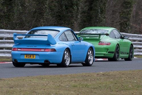 Overtaking a 993RS at Oulton Park
