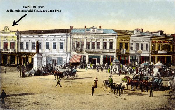 Hotel Bulevard - Sediul Adm Financiare Ploiesti dupa 1918