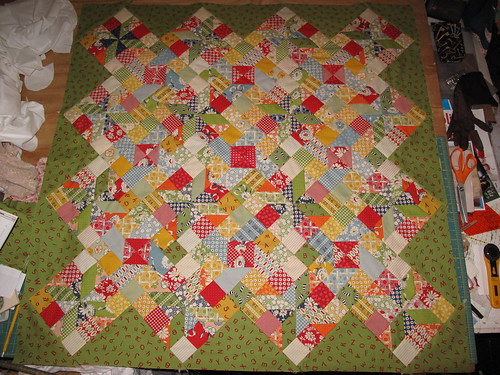 quilt top using american jane fabrics 50quot x50quot