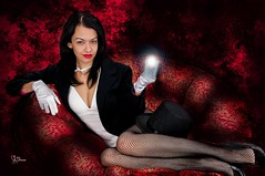 Zatanna Crystal Ball (VictoriaCosplay) Tags: cosplay witch magic victoria superman wonderwoman batman fishnets dccomics greenlantern smallville magician crystalball zatanna cosplaygirl wwwcosplaygirlwebscom blackestknight