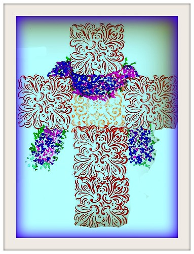 forget-me-not cross