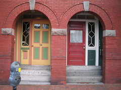 Portland's Welcome - Colorful Archways (catchesthelight) Tags: door brick history way easter colorful downtown maine images archway portlandme portals pleasantst itsmulticolored