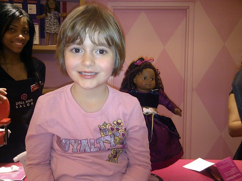 From last week's trip to American girl doll salon in midtown