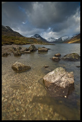 The depths of Wastwater (Stuart Hines) Tags: snow mountains landscape nikon view lakes sigma stuart cumbria 1020 wastwater hines d300