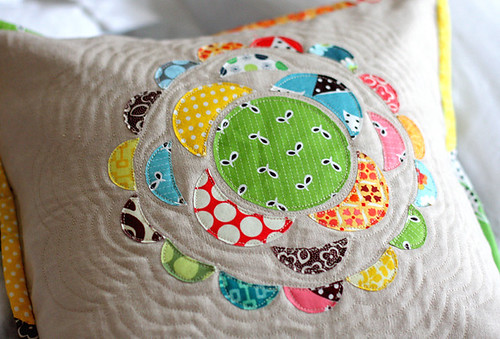 Scrappy Applique Pillow - 2