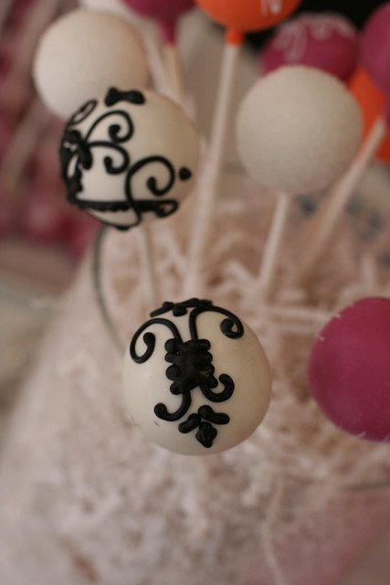 Fancy Filigree Cake Pops