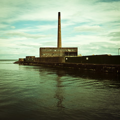 Methil Power Station (gregheath) Tags: sea water square coast scotland fife powerstation leven gregheathportfolio