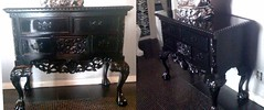 "4185 MEDIUM BLACK BAROQUE BUFFET TABLE • <a style=""font-size:0.8em;"" href=""http://www.flickr.com/photos/43749930@N04/5743833083/"" target=""_blank"">View on Flickr</a>"