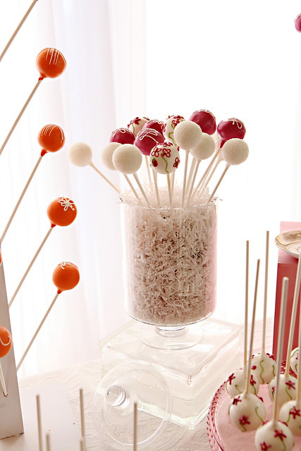 Orange Wedding Cake Pops