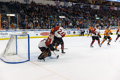 "Missouri Mavericks vs. Quad City Mallards, February 18, 2017, Silverstein Eye Centers Arena, Independence, Missouri.  Photo: John Howe / Howe Creative Photography • <a style=""font-size:0.8em;"" href=""http://www.flickr.com/photos/134016632@N02/32654247050/"" target=""_blank"">View on Flickr</a>"