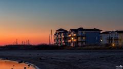 Cape Helius at Dusk (BraCom (Bram)) Tags: bracom beach strand sunset dusk twilight house huis reflection spiegeling masten masts zonsondergang lichten lights star ster schemer hellevoetsluis capehelius zuidholland nederland southholland netherlands holland canoneos5dmkiii widescreen canon 169 canonef24105mm bramvanbroekhoven nl