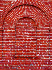 lost window...urban geometry VI (Rino Alessandrini) Tags: red brick muro window wall arch finestra arcata rosso arco walled murato mattone