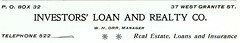 Investors' Loan and Realty Co., Butte, Montana...