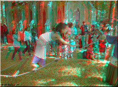 Renaissance Festival '09 (starg82343) Tags: people cute girl festival fun outside outdoors costume stereoscopic 3d kid md village child brian maryland kingdom social fair anaglyph rope medieval climbing stereo wallace faire balance ladder jacobs determined festivities dressed renaissance challenge crownsville peasant wench 16thcentury steady stereoscopy wooded stereographic periodclothing brianwallace
