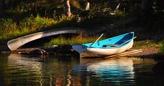 Joy (Bill Gracey) Tags: vacation reflection montana joy roadtrip hike canoe rowboat glaciernationalpark skiff swiftcurrentlake