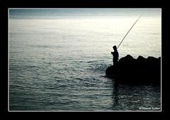 - (Hamzeh Karbasi) Tags: sea silhouette fishing iran north persia caspian mazandaran  khazar  northofiran   hamzeh     karbasi hamzehkarbasi    nowshahr
