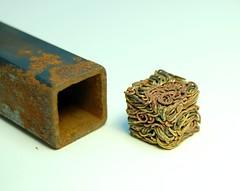 step 4. other wire experiments (Blind Spot Jewellery) Tags: metal wire steel jewelry jewellery workshop cube metalwork copper brass jewel blindspot borgcube blindspotjewellery