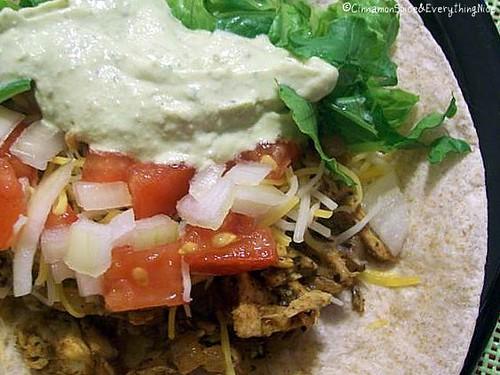 Chipotle Chicken Tacos & Cool Guacamole