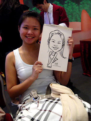 Caricature live sketching for Marina Square X'mas Tenants Gathering 2009 - 5