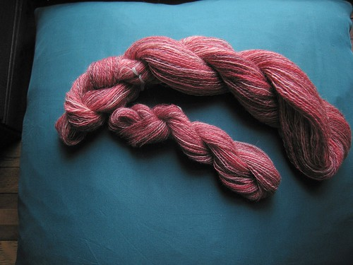 Knithound Dyed SW BFL 2 ply lace Samba