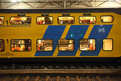 Amsterdam Train (sebastien banuls) Tags: voyage city travel autumn winter holland rooftop netherlands station amsterdam bicycle photography canal europe cityscape photographie nemo centre capital nederland thenetherlands bridges railway tunnel lloyd prinsengracht centraalstation  bibliotheek kerk compagnie maritimemuseum hoc jordaan overview sloterdijk centraal gracht oosterdokseiland korte oosterdokskade westerkerk openbare ijtunnel stadsarchief  rijp langejan vocship hoofdstad amstersam khl scheepsvaartmuseum oostindische nemosciencecenter publiclibraryamsterdam nederlandvandaag hartjeamsterdam amsterdamchannel deouwewester vereenigde