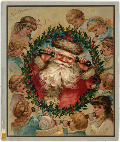 Louis Prang Christmas card 1870s