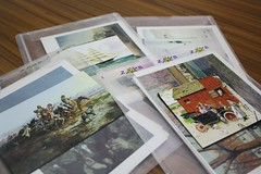 art cards in packets