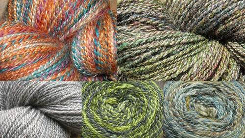 collage sock yarn 2009 handspun
