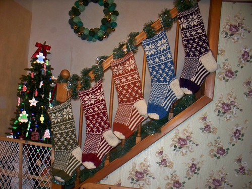 stockings, knit are hung!